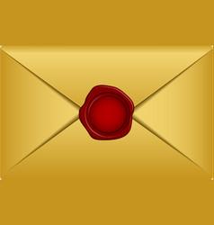 gold envelope vector image