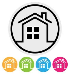 Round Home Button vector image vector image