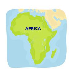 territory of africaafrican safari single icon in vector image