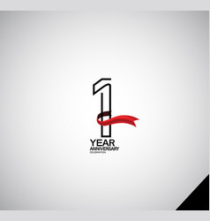 1 year anniversary logotype simple design vector