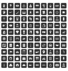 100 paying money icons set black vector image