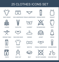 25 clothes icons vector