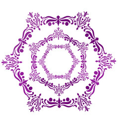 A purple hexagon arabesque vector