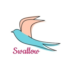 Abstract swallow bird symbol vector image