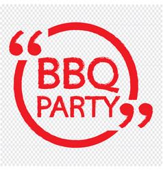 Bbq party lettering design vector