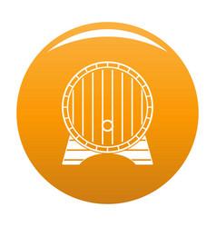beer barrel icon orange vector image