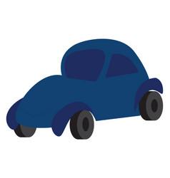 blue car doodle print on white background vector image