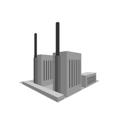 building power plant factory in perspective vector image