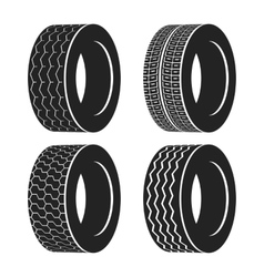 Bus rubber tire for wheel truck or auto tyre vector image