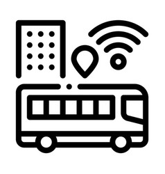 Bus wi-fi signal icon outline vector