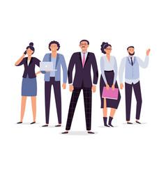 business employees team teamwork leadership vector image