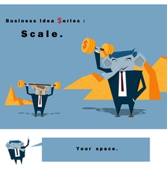 Business Idea series Scale vector