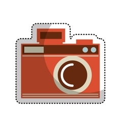 Camera photographic drawing icon vector