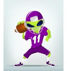 Cartoon alien Football vector