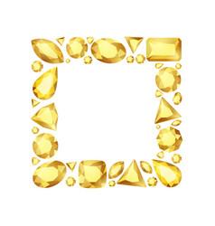 cartoon gem square frame vector image