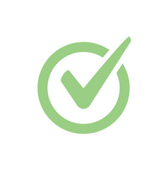 check mark icon checkmark right symbol vector image