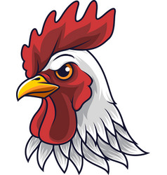 Chicken rooster head mascot vector
