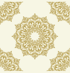 classic seamless golden pattern vector image