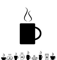 coffee cup black icon vector image