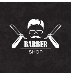 Composition of the set icons for the Barber shop vector