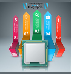 computer chip business infographic vector image