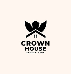 crown house logo design template - good to use vector image
