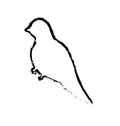Cute bird silhouette vector image