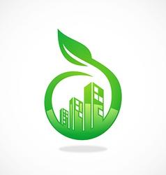 Eco friendly modern building logo vector