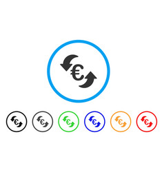 Euro update arrows rounded icon vector