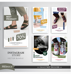 Fashion product instagram story template vector