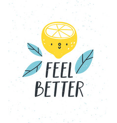 feel better vector image