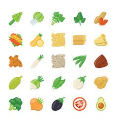 Food ingredients icons vector
