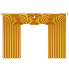 golden luxury realistic curtains draperies vector image