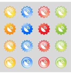 GPS icon Flat modern Set colourful buttons vector