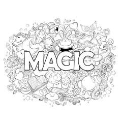 Halloween concept hand drawn cartoon doodle vector