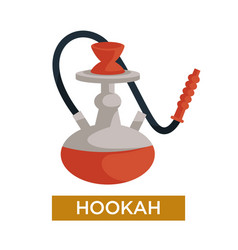 Hookah or shisha smoking device flavored tobacco vector