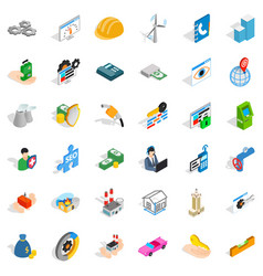 house icons set isometric style vector image
