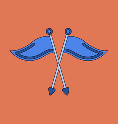 icon in flat design golf flags vector image