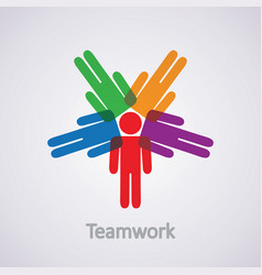 icon teamwork concept vector image