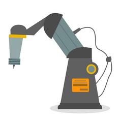 Industrial robot with needle robotic mechanism vector
