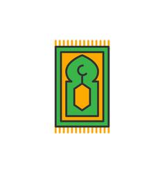 Islam prayer rug for shalat simple monoline icon vector