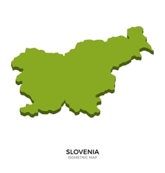 Isometric map of Slovenia detailed vector