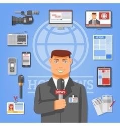 Journalist Concept vector image