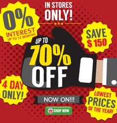 Knockout Sale Promotion vector image