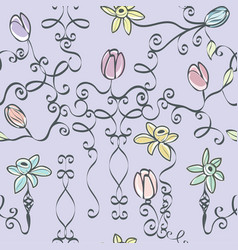 lavender fairy tale print seamless repeat pattern vector image