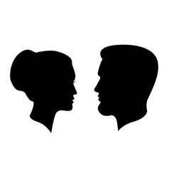 Man and woman profiles vector