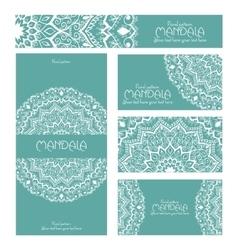 Mandala snowflake pattern design template May be vector image