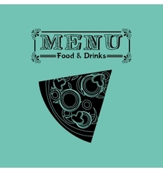 menu delicious food design vector image