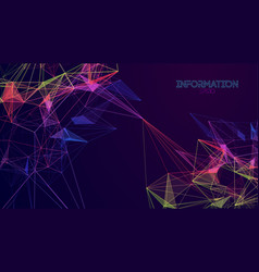 network technology background colorful triangle vector image