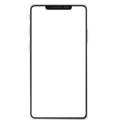 new phone x on white background smartphone 8 vector image